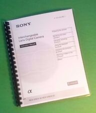 LASER PRINTED Sony NEX-3 NEX 3C NEX-5 NEX 5C NEX3 Manual Guide 83 Pages