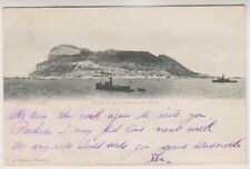 Gibraltar postcard - Rock from Commercial Mole
