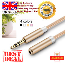 3.5mm Stereo Jack Headphone Extension Cable Male to Female Lead plug AUX