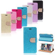 Handy Schutz Glitzer Hülle Samsung Etui Tasche Case Strass Buch Karten Flip Huaw