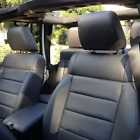 Jeep Wrangler 2007 2008 2009 2010 Custom Black Leather Seat Replacement Covers