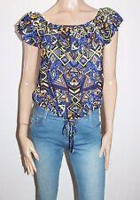 SUPRE Brand Festive Print Lady Jane Top Size 16-XL BNWT #TD66