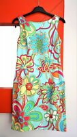 UNITED COLORS OF BENETTON Sleeveless V-Back Stretch Fitted Floral Dress