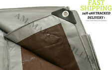 More details for heavy duty tarpaulin waterproof cover tarp ground camping sheet 4m x 8m