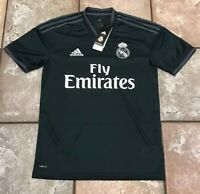 NWT Official Adidas 2018-2019 Real Madrid Away Black Jersey CG0584 Men's Size XS
