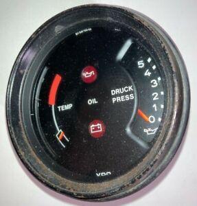 genuine porsche 911 930 oil pressure engine temperature temp gauge 91164110303