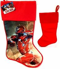 "Captain America Civil War 17"" Red Marvel IRON MAN Christmas Stockings - NWT"