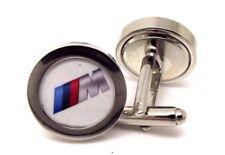 BMW M series cufflink pair silver men gift Wedding business  M3 M5 M6