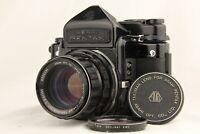 【 Optics NEAR MINT 】 PENTAX 6x7 TTL Finder + SMC Takumar 105mm f/2.4 from JAPAN