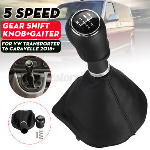 PU Leather 5 Speed Gear Shift Knob Gaiter For VW Transporter T6 Caravelle 2015+