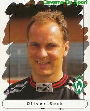 003 OLIVER RECK GERMANY WERDER BREMEN STICKER FUSSBALL 1996 PANINI