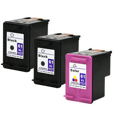 3PKs HP 61XL 61XL Cartridges For Deskjet 3000 3050 3050A 3051A 3052A