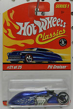 MOTORCYCLE BITCHIN BIKE PIT CRUISER BLUE # 21 SERIES 1 CLASSICS HW HOT WHEELS