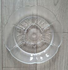 Oval Glass Tray Plate Vintage
