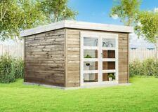 Carlsson Gartenhaus Luma Holz B320xT326 cm 28 mm Pultdach Gartenhütte Gerätehaus