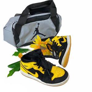 2017 Air Jordan 1 Mid New Love Retro OG Yellow Maize White Toddler Size 10c