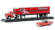 M2 MACHINES 1/64 Auto-Haulers 20A 1958 Chevrolet Spartan LCF & 1957 Bel Air Set