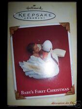 NIB Hallmark Keepsake Baby's First Christmas Swan 2005 African American Baby