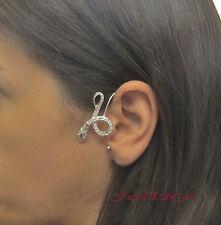 JoliKo Ohrklemme Ohrringe Ear cuff Earring Viper Snake Schlange Silber PL LINKS