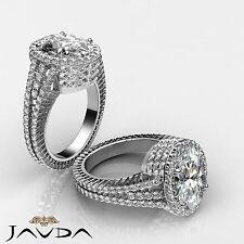Lustrous Oval Cut Diamond Designer Engagement Ring GIA G Color I1 Platinum 3.5ct