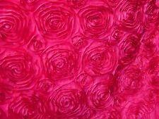 "10 Fuchsia 54""x54"" Rosette Rose Satin Table Overlays Fushia Tablecloths Wedding"