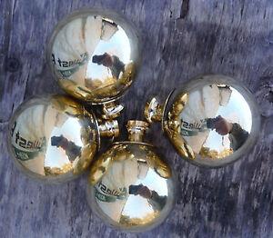 """4 Brass Finials,Balls 1 3/4"""" fits VGT Iron, Brass Bed W/ 3/8"""" thread ,hard to fi"""