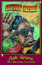 Lightnin' Hopkins at Ash Grove Poster by Cadillac Johnson