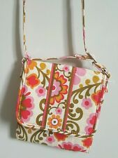 Vera Bradley crossbody mini hipster trifold wallet folkloric floral pink