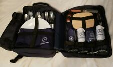 Mercedes Benz Wine & Cheese Picnic Basket Set For 4 Within Blue Backpack Nice