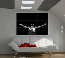 "Lebron James Huge Big Poster Wall Print 39""x57"" lx17"