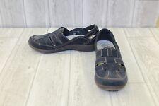 ** Clarks Sillian Stork Faux Leather Slip On Shoes, Women's Size 6.5 M, Navy