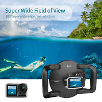1*Wasserdichte Kamera Dome Port Gehäuse Tauchobjektiv für DJI OSMO Action Kamera