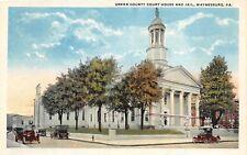 D68/ Waynesburg Pennsylvania Pa Postcard c1910 Green County Court House Jail