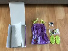 New American Girl Lea doll Beach dress outfit shoes butterfly clip sunglasses