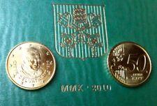 50 Cent Vatikan 2010 Papst Benedikt prägefrisch Euromünzen aus Euro-KMS #2