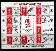 Bloc feuillet n° 14 Jeux Olympiques d'hiver d'Alberville de 1992