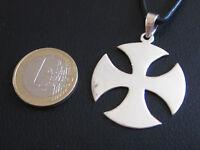 Eisernes Kreuz Malteser Hochglänzend 925er Silber Anhänger / KA 259