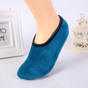 Womens Ladies Slipper Non-Slip Anti-skid Socks Warm Soft Fleece Gripper Slippers