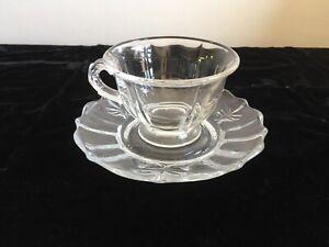 Fostoria Baroque Clear cup & saucer