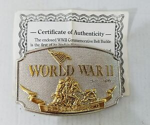 Certified World War ll Remembered Commemorative Belt Buckle w/Cert. Authenticity