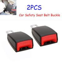 2Pcs Car Safety Seat Belt Extension Buckle Extender Clip Alarm Stopper Universal