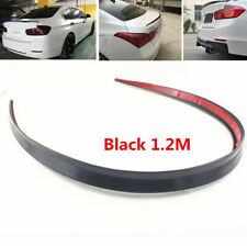1Pcs Universal 1.2m Black Spoiler Rubber Rear Roof Trunk Molding Lip Wing Trim