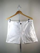 CURRENT ELLIOTT Sugar White Cotton Shorty Captain Roll Short Size 28