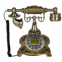 108B Bronze Retro Vintage Style Push Button Ceramic Antique Telephone Desk Phone