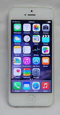 APPLE IPHONE 5 MOBILE ND298X/A WHITE 16GB CLEARED GUC BLUETOOTH
