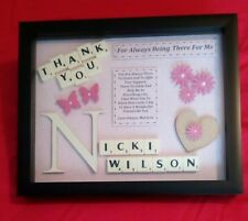 FRIEND THANK YOU GIFT PERSONALISED PICTURE FRAME BEST FRIEND TRUE FRIEND