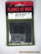 Metal US 105mm Artillery Staff Base Blister - Flames of War CC517