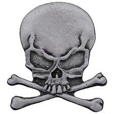 Pin's Biker épinglette Tête de mort - Skull moto custom trike Skeleton badge