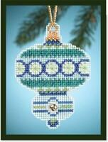 MILL HILL Counted Cross Stitch ORNAMENT Kit -BLUE TOPAZ MH16-4302