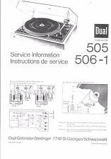 Dual Service Manual für 505 / 506-1